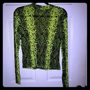 Slime green shirt